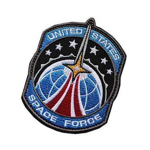 Embroidery Patch Airsoft Morale Patch 3 US Space Force Military Hook Loop Tactics Morale Embroidered Patch