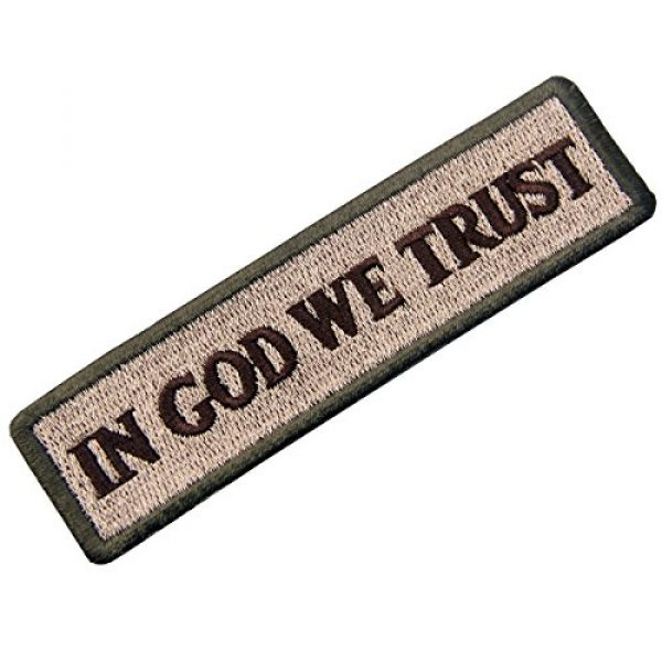 EmbTao Airsoft Morale Patch 3 EmbTao in GOD We Trust Embroidered Tactical Morale Iron On Sew On Patch - Multitan