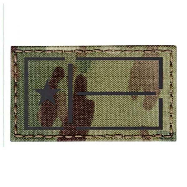 Tactical Freaky Airsoft Morale Patch 1 IR Multicam OCP Texas Lone Star Flag 2x3.5 IFF Plate Carrier Tactical Morale Hook&Loop Patch