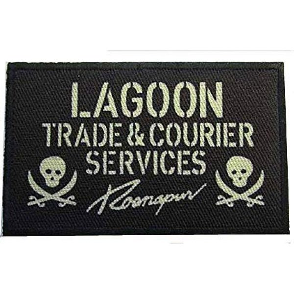 Embroidery Patch Airsoft Morale Patch 1 Black Lagoon Lagoon Military Hook Loop Tactics Morale Patch