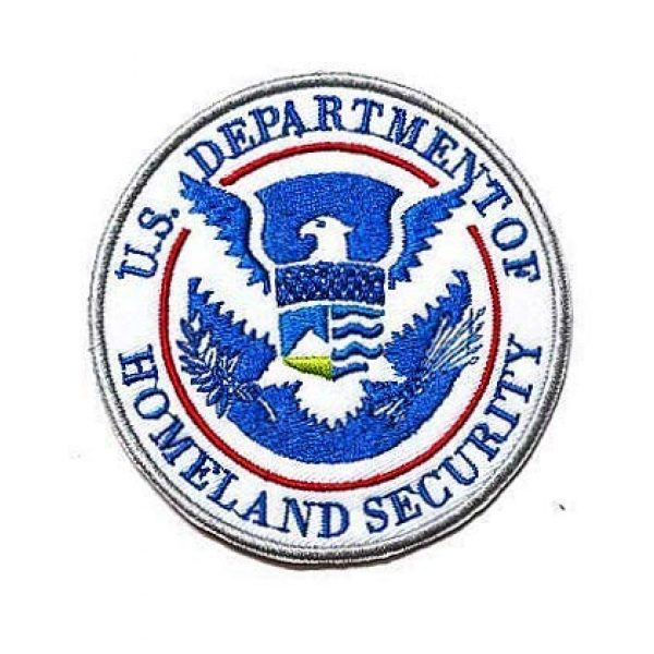 Embroidery Patch Airsoft Morale Patch 1 Department of Homeland Security Military Hook Loop Tactics Morale Embroidered Patch