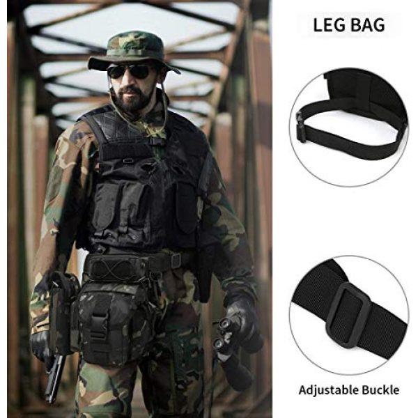 ACOMOO Tactical Pouch 7 ACOMOO Tactical Drop Leg Waist Bag Mens Outdoor Sport Thigh Hip Pack Utility Pouch Camo Black