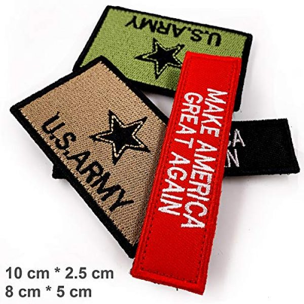 JumpyFire Airsoft Morale Patch 4 JumpyFire Tactical USA Army Velcro Patch, 4 PCS Make America Great Again Embroidered Military Morale Patches for Backpack Hat Jacket Jeans Uniform