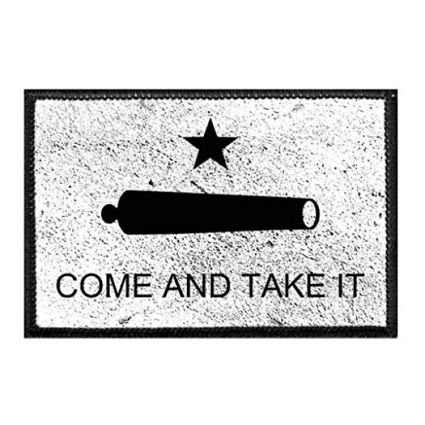 P PULLPATCH Airsoft Morale Patch 1 Gonzales Flag - Come and Take It - Texas - Distressed Morale Patch   Hook and Loop Attach for Hats, Jeans, Vest, Coat   2x3 in   by Pull Patch