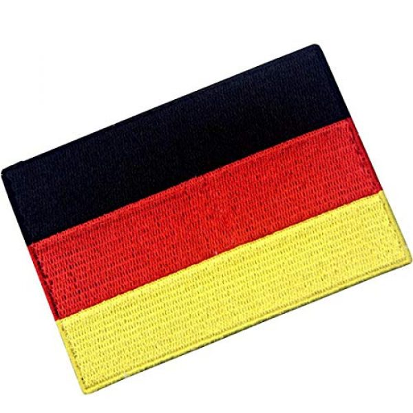 EmbTao Airsoft Morale Patch 3 EmbTao Germany Flag Embroidered Emblem German Applique Iron On/Sew On Patch