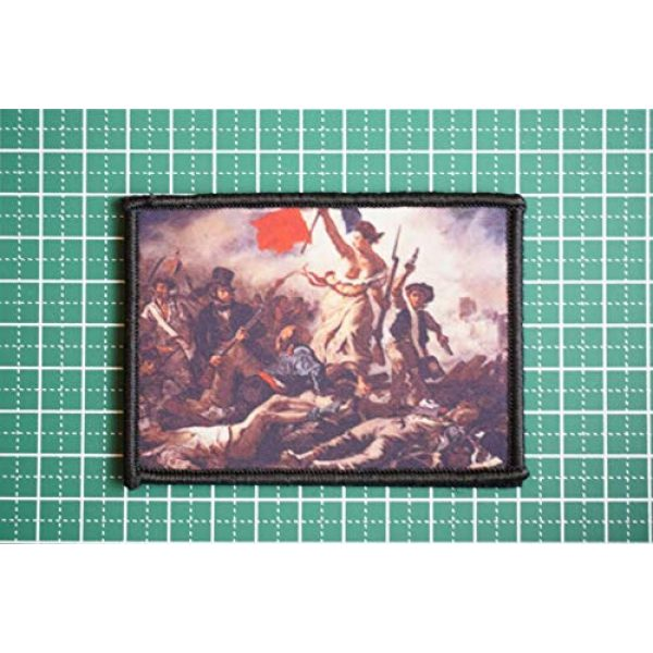 WAPPEN-YA DONGRI Airsoft Morale Patch 2 Morale Patch Hook and Loop Liberty Leading The People Delacroix A0519