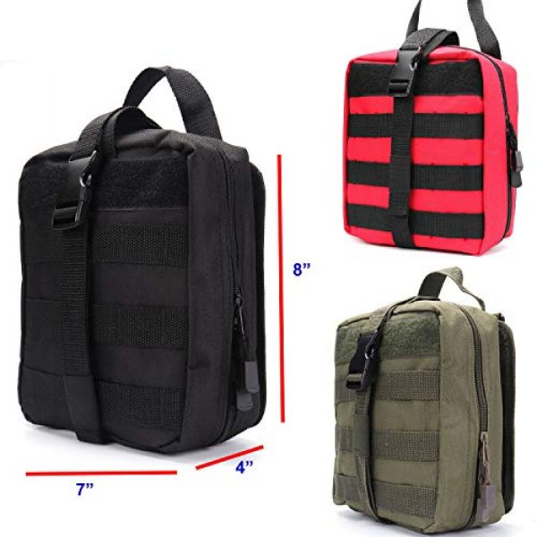ASEEBY Tactical Pouch 6 ASEEBY First Aid Kit Utility MOLLE Pouch Bag Rip-Away Tactical Bag Compact Accessory Tool Carrier Pocket for Military Advanture Outdoor Camping
