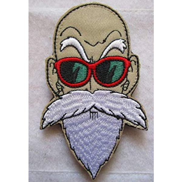 Tactical Embroidery Patch Airsoft Morale Patch 1 Dragon Ball Z Master Roshi Tactical Embroidery Patch Hook & Loop Morale Patch Military Patch for Clothing Accessory Backpack Armband