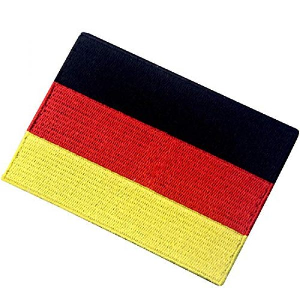EmbTao Airsoft Morale Patch 4 EmbTao Germany Flag Embroidered Emblem German Applique Iron On/Sew On Patch