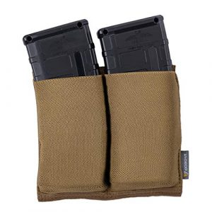 IDOGEAR Tactical Pouch 1 IDOGEAR Elastic M4 Double Mag Pouch MOLLE Magazine Pouch Tactical Mag Holder for M4 Rifle Magazines