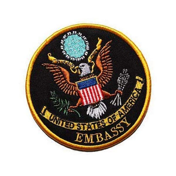 Embroidery Patch Airsoft Morale Patch 2 US Embassy Seal of The President Military Hook Loop Tactics Morale Embroidered Patch