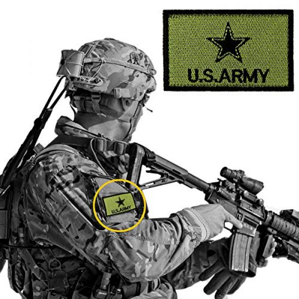 JumpyFire Airsoft Morale Patch 5 JumpyFire Tactical USA Army Velcro Patch, 4 PCS Make America Great Again Embroidered Military Morale Patches for Backpack Hat Jacket Jeans Uniform