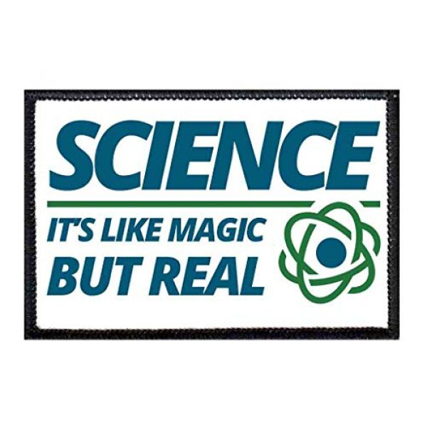 P PULLPATCH Airsoft Morale Patch 1 Science It's Like Magic But Real Morale Patch   Hook and Loop Attach for Hats, Jeans, Vest, Coat   2x3 in   by Pull Patch