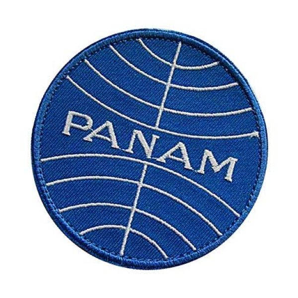 Embroidery Patch Airsoft Morale Patch 3 Pan Am Airlines Military Hook Loop Tactics Morale Embroidered Patch