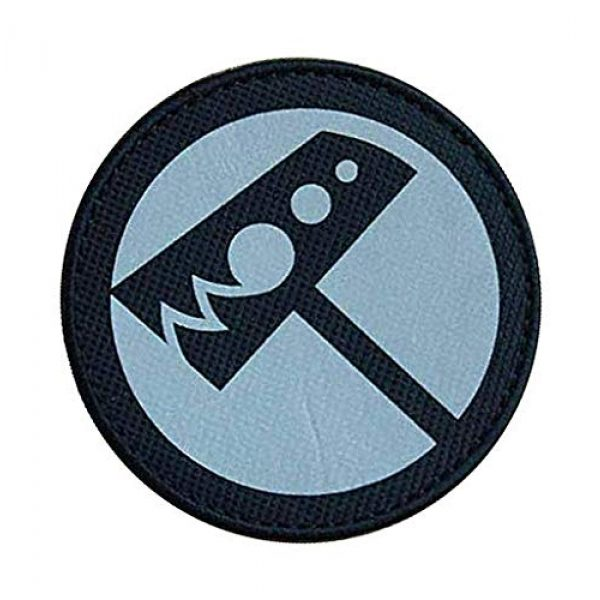"""Embroidery Patch Airsoft Morale Patch 2 SCP Foundation Special Containment Procedures Foundation SCP Mobile Task Forces Nu-7 Hammer Down"""" Military Hook Loop Tactics Morale Reflective Patch"""
