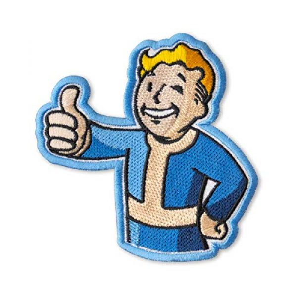"""Embrosoft Airsoft Morale Patch 1 Fallout Vault Boy Embroidered Patch Iron On (3.5"""" x 3.6"""")"""