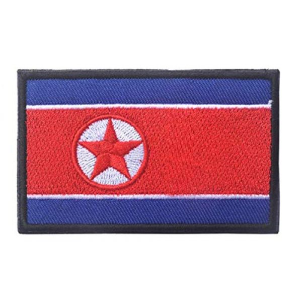 Tactical Embroidery Patch Airsoft Morale Patch 2 2pcs Korea Flag Embroidery Patch Military Tactical Morale Patch Badges Emblem Applique Hook Patches for Clothes Backpack Accessories
