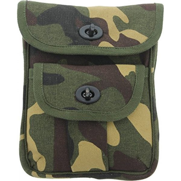 Army Universe Tactical Pouch 1 Army Universe Ammo Pouch Heavyweight Cotton Canvas Two Pocket Tactical Utility Ammunition Wallet Mini Pouch with Belt Loop