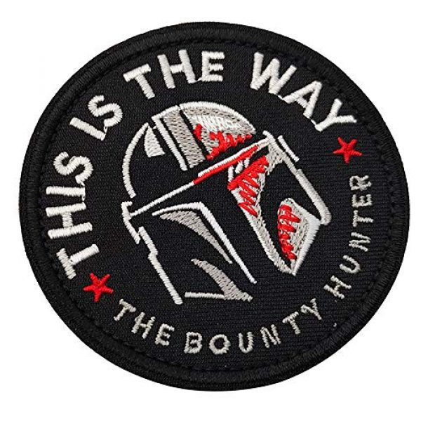 APBVIHL Airsoft Morale Patch 7 This is The Way Mandalorian Star Wars Embroidered Patches, Emblem Tactical Military Morale Funny Patch Decorative Badge, Fastener Hook and Loop Backing