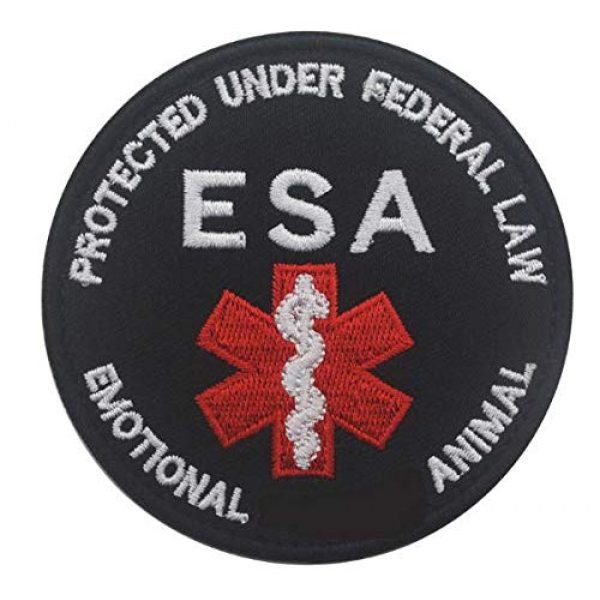 Embroidered Patch Airsoft Morale Patch 1 Service Dog ESA 3D Tactical Patch Military Embroidered Morale Tags Badge Embroidered Patch DIY Applique Shoulder Patch Embroidery Gift Patch