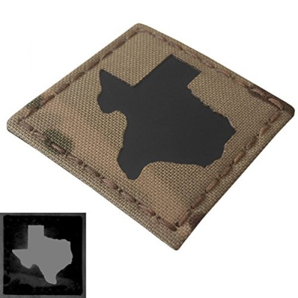 Tactical Freaky Airsoft Morale Patch 4 Texas Multicam Infrared IR 2x2 Tactical Morale Hook&Loop Patch