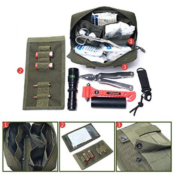 Azarxis Tactical Pouch 4 Azarxis Tactical MOLLE Rip-Away EMT Medical First Aid IFAK Blowout Pouch Trauma Bag