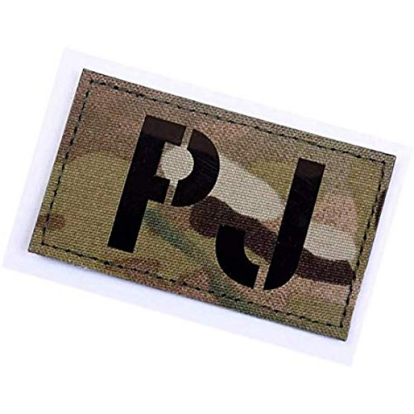 Embroidery Patch Airsoft Morale Patch 3 PJ Pararescue Jumper Military Hook Loop Tactics Morale Reflective IR Patch