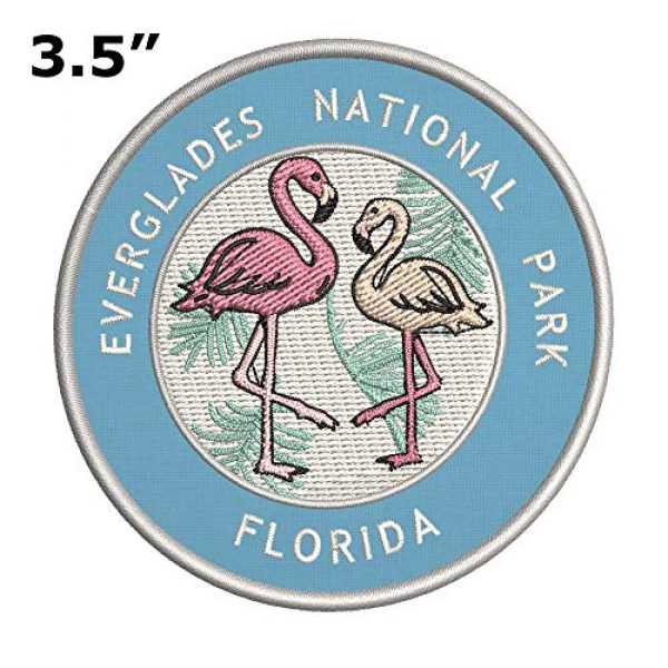 Appalachian Spirit Airsoft Morale Patch 2 Flamingos Everglades National Park, Florida Two Flamingos Embroidered Premium Patch DIY Iron-on or Sew-on Decorative Badge Emblem Vacation Souvenir Travel Gear Clothes Appliques