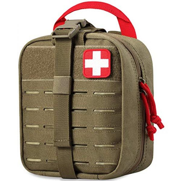 AceTac Gear Tactical Pouch 1 Ace Tac MOLLE Medical Pouch EMT 1000D Nylon First Aid Pouch Rip-Away IFAK Tactical Utility Pouch for Outdoor Activities Medical Supplies