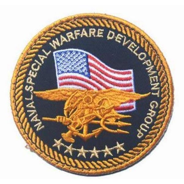 Tactical Embroidery Patch Airsoft Morale Patch 1 Department of The Navy Embroidery Patch Military Tactical Morale Patch Badges Emblem Applique Hook Patches for Clothes Backpack Accessories