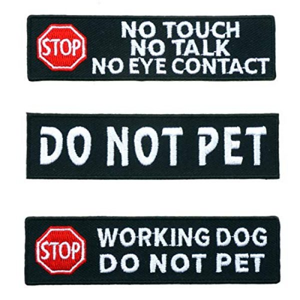 Graphic Dust Airsoft Morale Patch 1 Do Not Pet No Touch No Talk No Eye Contact Working Dog Do Not Pet Embroidered Iron On Patch Funny Patch