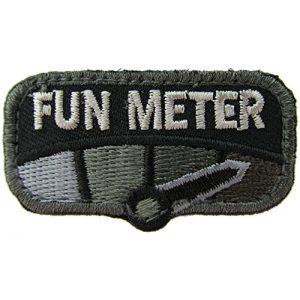 MilSpec Monkey Airsoft Morale Patch 1 Milspec Monkey Fun Meter Morale Patch (Black)