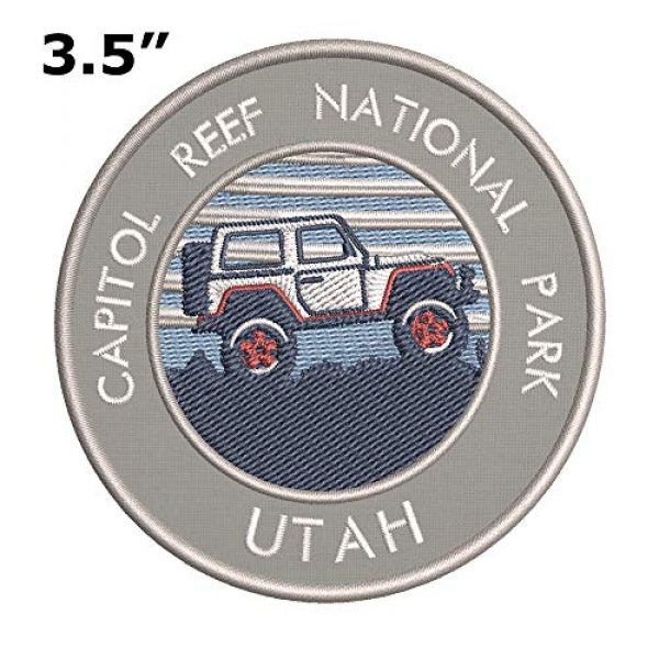 Appalachian Spirit Airsoft Morale Patch 2 Roadtrip! Capitol Reef National Park Embroidered DIY Iron on or Sew-on Decorative Patch Badge Emblem Appliques Vacation Souvenir Travel Explore More Wander Adventure Series