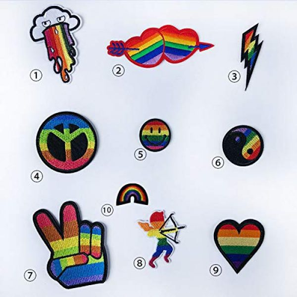 VANVENE Airsoft Morale Patch 4 VANVENE Rainbow LGBT Gay Pride Patches Set,Lesbian Patch Embroidered Morale Emblem Iron On or Sew On Patch Appliques Dress, Plant, Hat, Cap, Jacket, Jeans