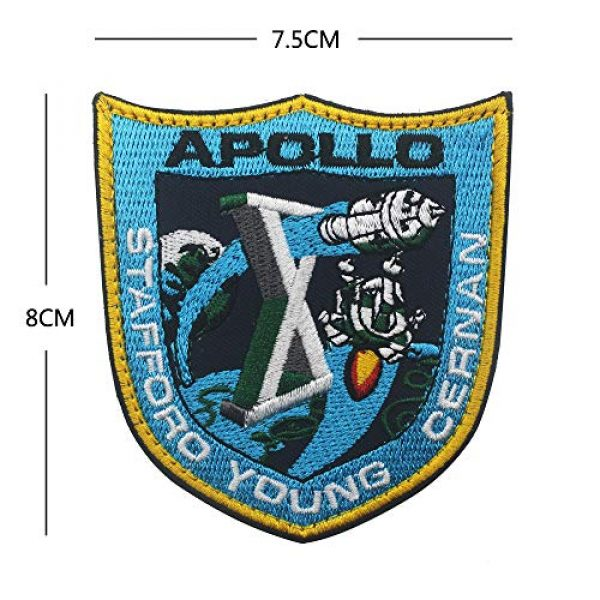 Zhikang68 Airsoft Morale Patch 5 18 PCS NASA Apollo Mission Patch Set 1,7,8,9,10,11,12,13,14,15,16,17,133,134,135 Space Patches 60th Annivers Embroidered Costume Applique Sew On Motorcycle Emblem for Travel Backpack Hats Jackets