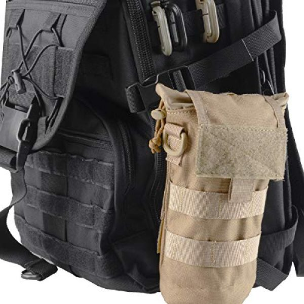 Azarxis Tactical Pouch 7 Azarxis Tactical Military MOLLE Water Bottle Pouch, Drawstring Open Top & Mesh Bottom Travel Water Bottle Bag Tactical Hydration Carrier