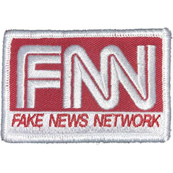 """Gadsden and Culpeper Airsoft Morale Patch 1 2""""x3"""" Fake News Tactical Morale Patch - Red"""
