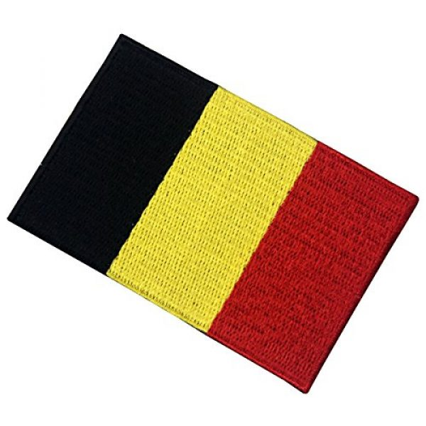 EmbTao Airsoft Morale Patch 3 Belgium Flag Embroidered Belgian National Emblem Iron On Sew On Patch