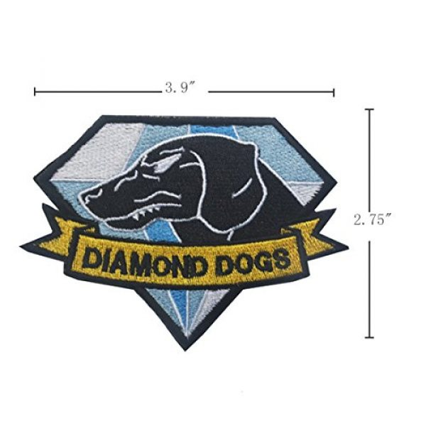 GrayCell Airsoft Morale Patch 2 GrayCell Military Morale Diamond Dogs and Metal Gear Solid Fox Patch