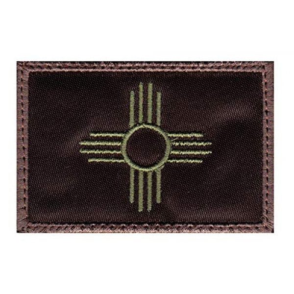 Tactical Patch Works Airsoft Morale Patch 1 New Mexico Zia Symbol State Flag Patch