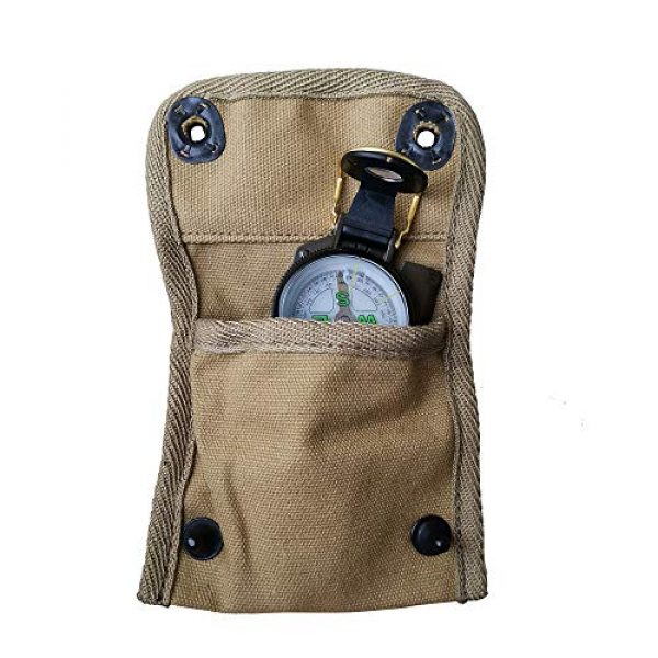 ANQIAO Tactical Pouch 1 ANQIAO Reproduction WW2 US Compass Pouch Bag with Modern Compass