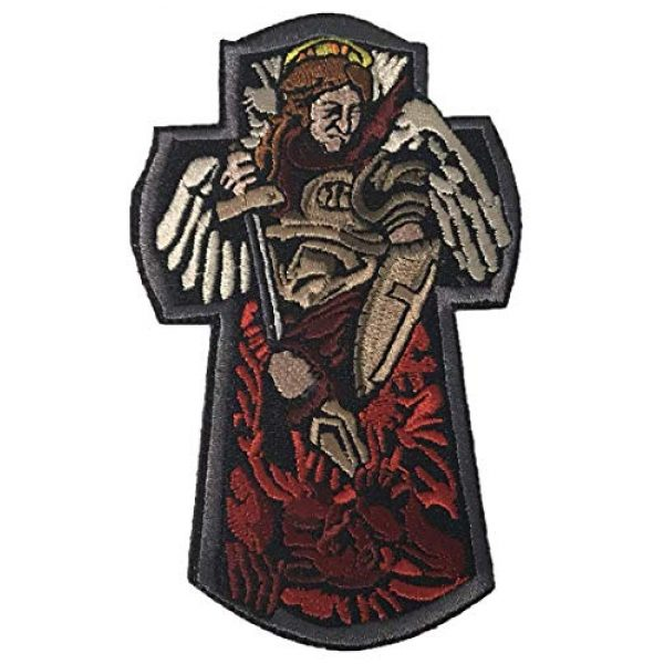 F-Bomb Morale Gear Airsoft Morale Patch 1 St. Michael The Archangel - 100% Embroidered Morale Patch with Hook and Loop Backing