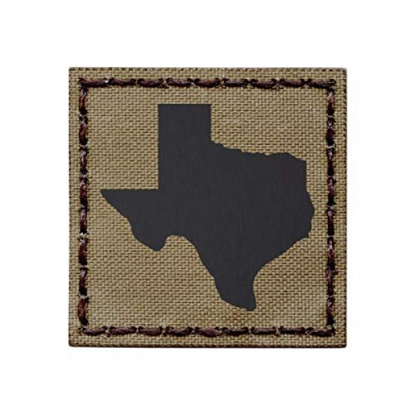 Tactical Freaky Airsoft Morale Patch 1 IR Texas Tan Coyote Brown Infrared 2x2 Lone Star Tactical Morale Hook&Loop Patch