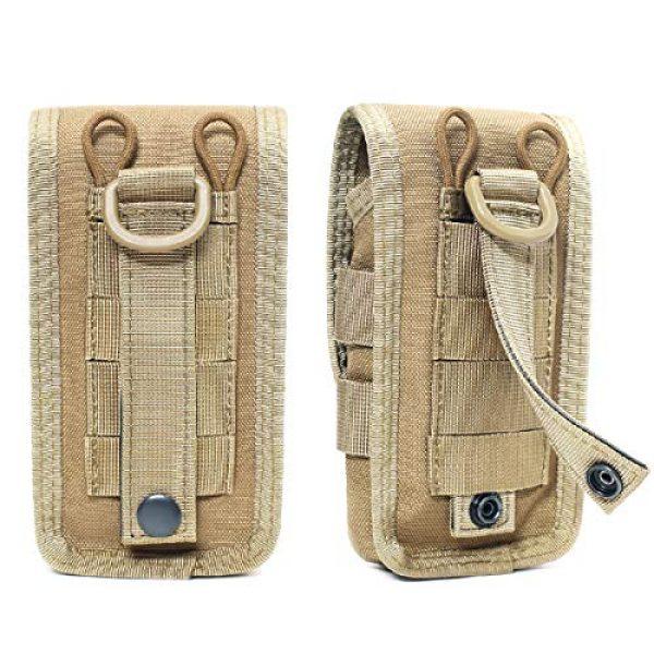 Azarxis Tactical Pouch 3 Azarxis Tactical Cell Phone Holster Pouch, Tactical Smartphone Pouches EDC Cellphone Case Molle Gadget Bag Molle Attachment Belt Holder Waist Bag