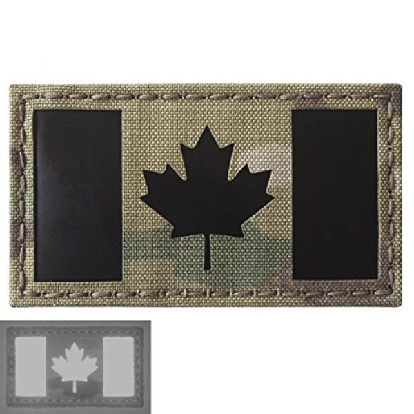 Tactical Freaky Airsoft Morale Patch 5 Multicam Infrared IR Canada Flag 3.5x2 IFF Tactical Morale Hook&Loop Patch