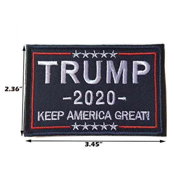Xunqian Airsoft Morale Patch 2 Keeping America Great Donald Trump 2020 Tactical Morale Military Emblem Embroidered Fastener Hook and Loop Patch (A-Blue)