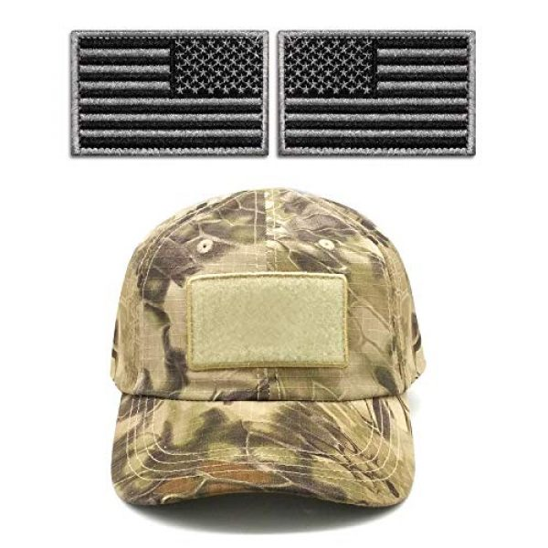 """Anley Airsoft Morale Patch 4 Anley Tactical USA Flag Patches Set - 2 Pack (Forward & Reversed) 2""""x 3"""" Black & Gray American Flag Military Uniform Emblem Patch - Loop & Hook Fasteners Attach to Tactical Hats and Gears"""