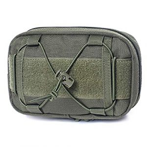 TRIWONDER Tactical Pouch 1 TRIWONDER Molle Pouches, Tactical Compact Water-Resistant EDC Utility Pouch Waist Bags with Bungee Straps, EDC Horizontal MOLLE Pouch for Tool Treat Med