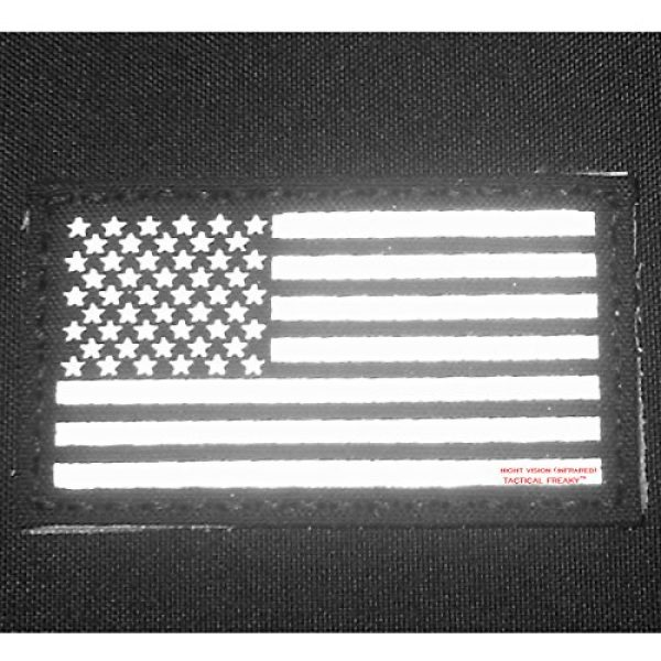 Tactical Freaky Airsoft Morale Patch 5 Olive Drab Green OD Infrared IR USA American Flag 3.5x2 IFF Tactical Morale Hook-and-Loop Patch