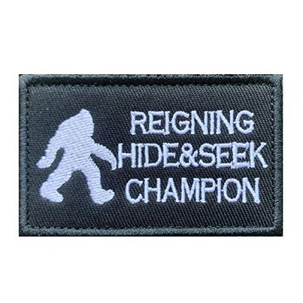 Antrix Airsoft Morale Patch 2 Antrix 3 Pieces Bigfoot Big Foot Reigning Hide and Seek Champion Tactical Military Morale Patch for Caps,Bags,Backpacks,Clothes,Vest,Military Uniforms,Tactical Gears Etc.